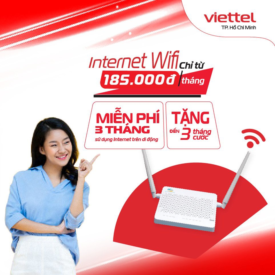 Bùng Nổ Khuyến Mãi Lắp Đặt Cáp Quang Viettel
